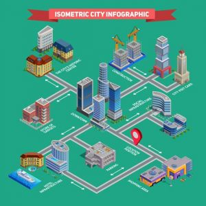 2371 Isometric City Infographic