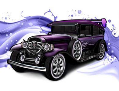 classic-cars-with-a-splashy-purple-background1