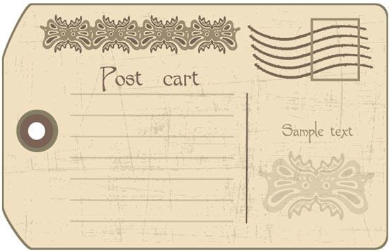 postcard template .