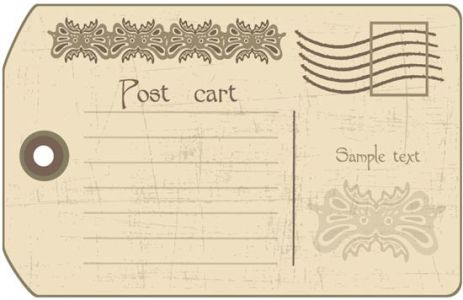 Classic postcard template