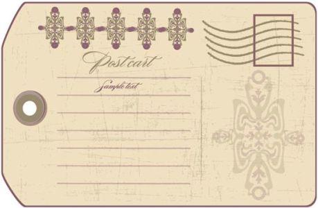 Classic postcard design
