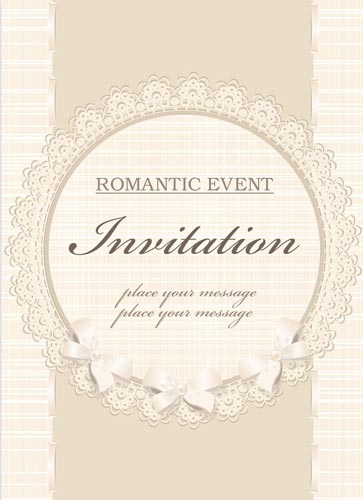 Classic wedding invitation vectors stopboris Gallery