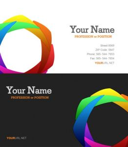 Clean and professional business cards for Photoshop