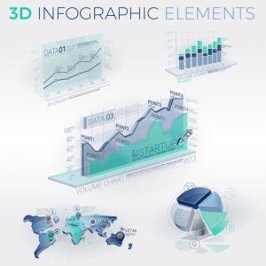 3D Infographic Elements,3D Infographic Elements