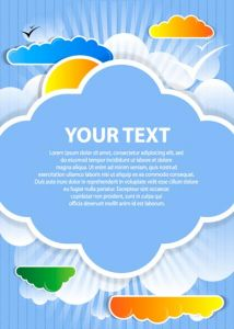 Colored cloud speech buble  design