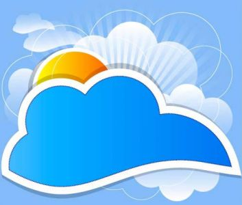 Cloud speech buble  vector