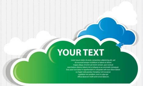 Green cloud speech buble  design