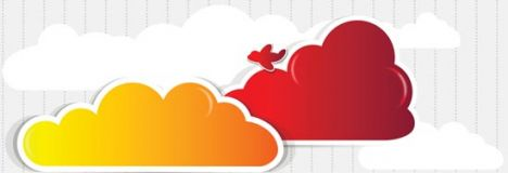 Red cloud speech buble  design