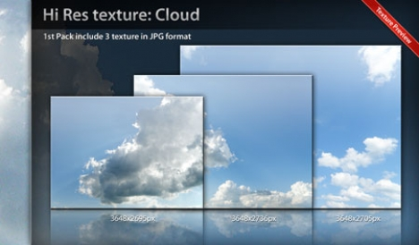 Cloud texture template