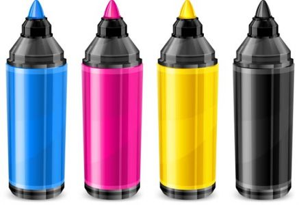 CMYK paint color vectors
