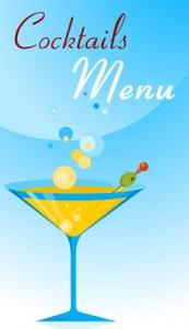 Cocktail menu banner