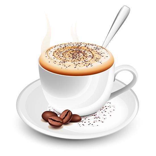 Coffee cups vector material - Bilder cappuccino ...