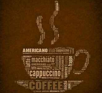 Coffee letters layout