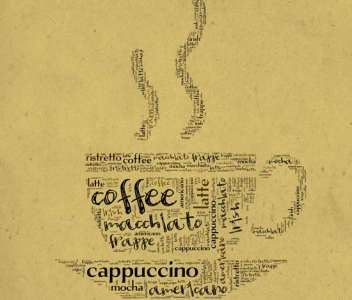 Coffee letters design