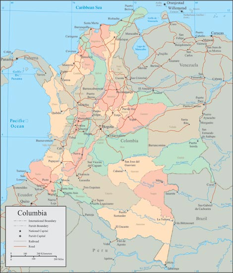 Colombia Political Map Quotes