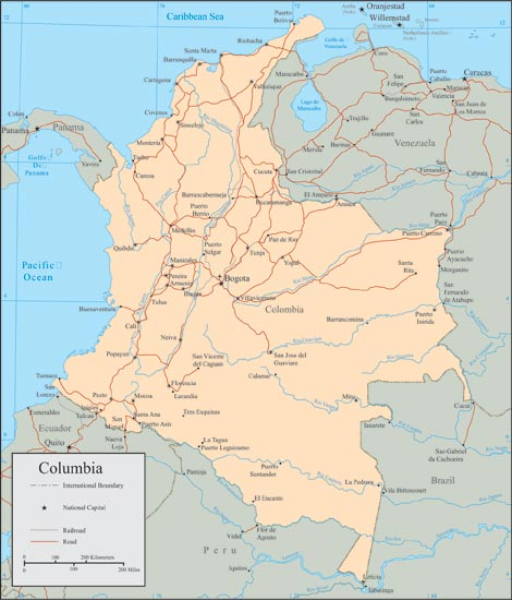 Colombia vector maps