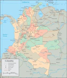 Colombia vector map