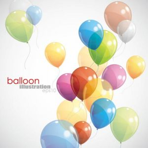 Colored balloons for events vector illustrations