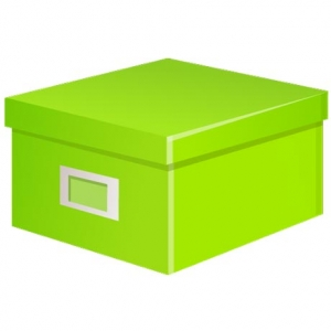 Colored box vector