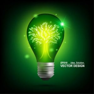 Colored bulbs vector design