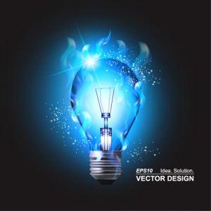 Colored bulbs creative vector