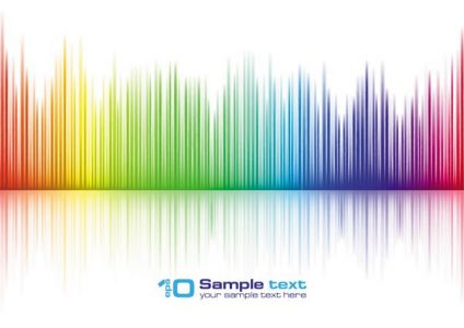 Colored lines and waves vectors