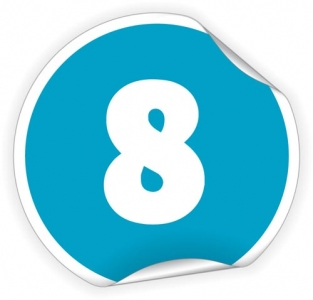 Colored number layout sticker