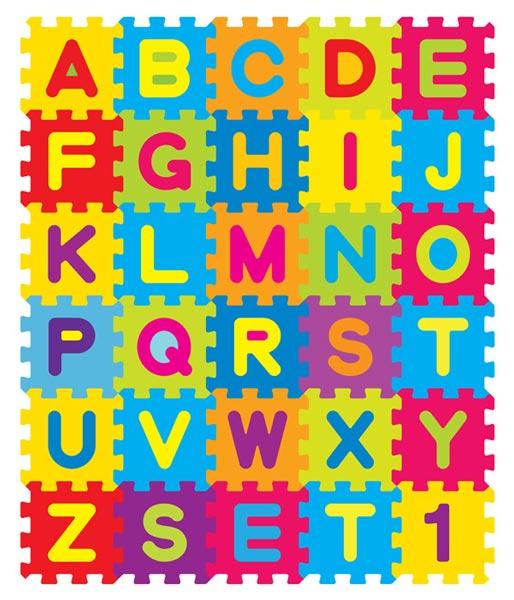 Block Letter Alphabet For Kids