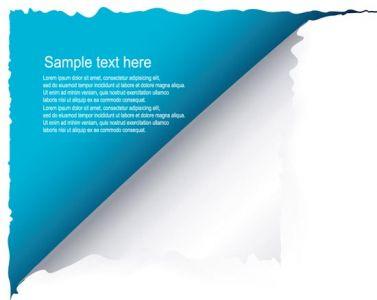 Blue torn paper vector