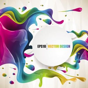 Colorful ink vector poster