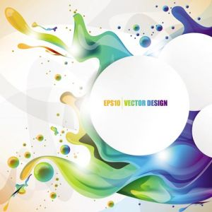 Colorful ink vector template