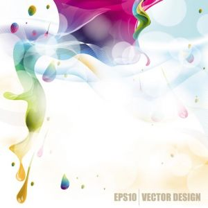 Colorful ink vector design