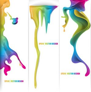 Colorful ink vector ideas