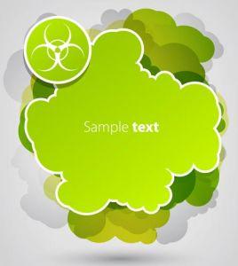 Green sticker cloud vector