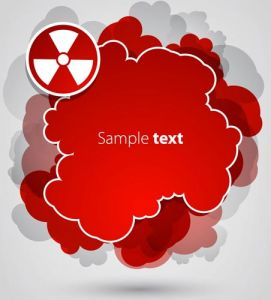 Red sticker cloud vector
