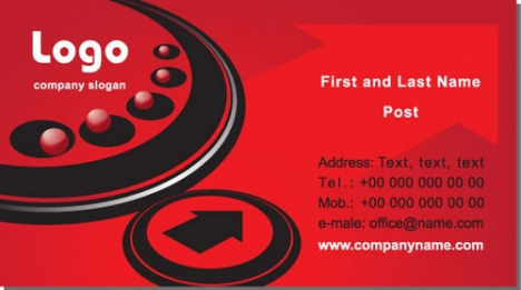 Commercial business cards