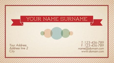 Company name business card front