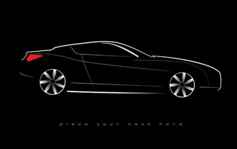 Concept car shape vector design