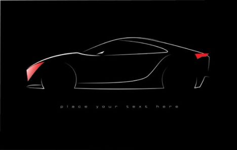 Concept car shape vector template