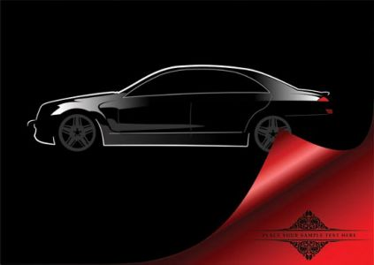 Concept car shape vector