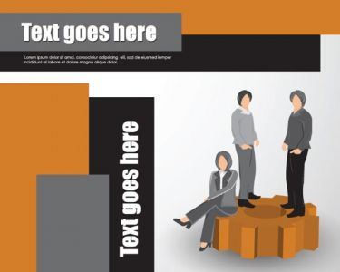 Corporate brochure vector