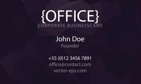 Corporate business cards vector models