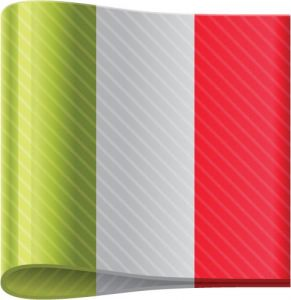 Italy vector flag label