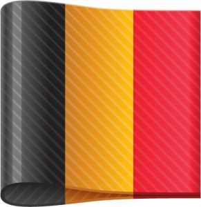 Germany vector flag label