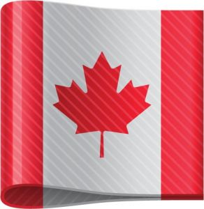 Canadian vector flag label