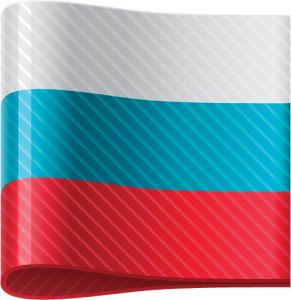 Russian vector flag label