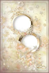 cream-wedding-photo-frame-with-rings-and-roses1