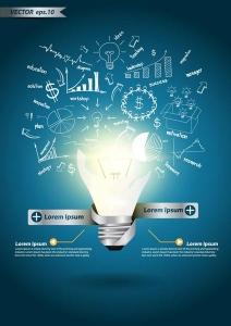Creative bulb lights vectors