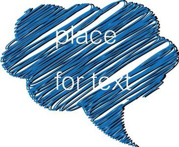 Creative colored dialog box vector