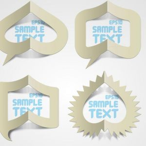 Creative folded papers vector